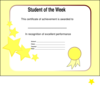 Student Of The Week Clip Art