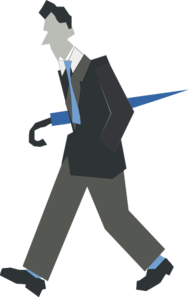 Male With Umbrella Clip Art