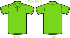 Green A Polo Shirt Clip Art