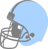 Blue Football Helmet Facing Left Clip Art