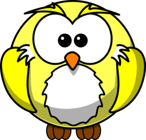 Yellow Owle Clip Art