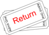 Return Ticket Button Clip Art