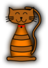 Striped Cat Clip Art