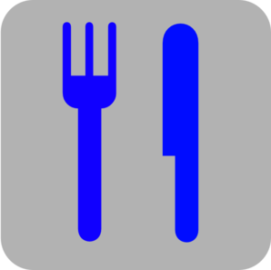 Green And Yellow Knife And Fork Clip Art