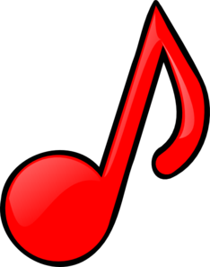red music note clip art at clker com vector clip art online rh clker com notes clipart vector notes clipart images