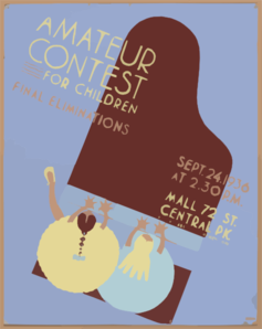 Amateur Contest For Children Final Eliminations, Sept. 24, 1936. Clip Art