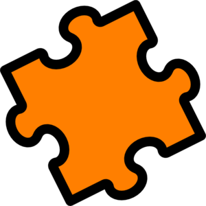 Orange Puzzle Clip Art