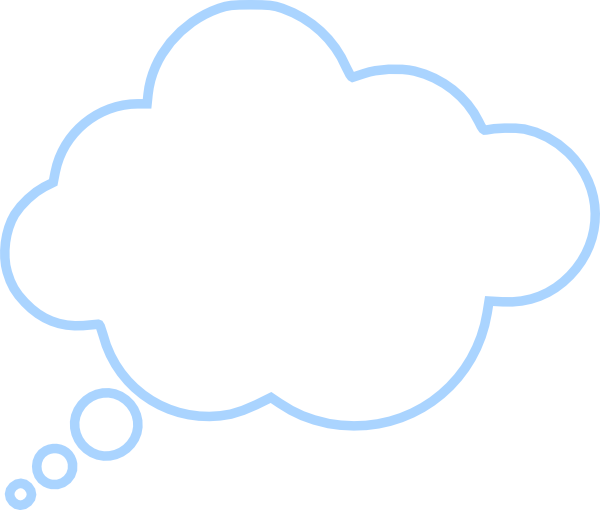 blue cloud bubble clip art at clker com