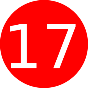 Number 17 Red Background Clip Art