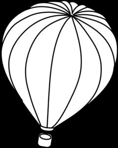 hot air balloon outline clip art