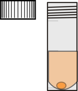 Test Tube With Cap And Water Clip Art