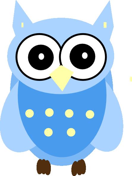 Blue Owl clip art - vector clip art online, royalty free & public