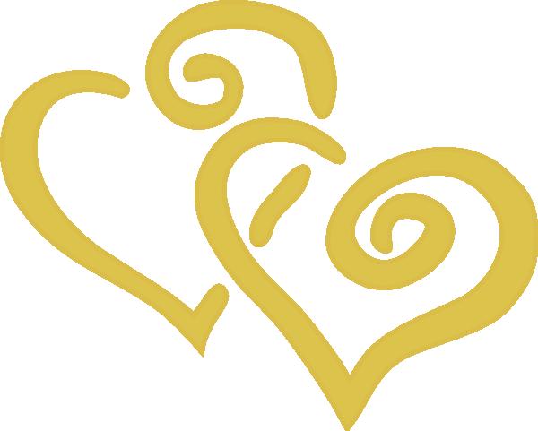 Golden Heart Outline