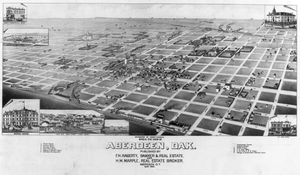 Birds Eye View Of Aberdeen, Dak. Image