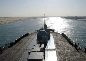For The First Time In Her 31 Years Of Naval Service, Mt. Whitney Transits The Suez Canal On A Mission-oriented Voyage To The Horn Of Africa. Image