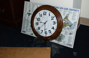 Clock Frozen At The Time Of Impact Image