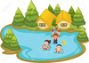 Free Clipart Kids Swimming Image