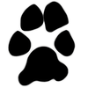 Dog Paws And Bones Single Clipart Image