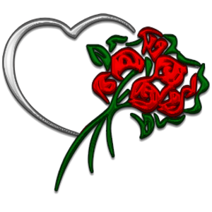 Heart And Flowers Free Images At Clker Com Vector Clip Art