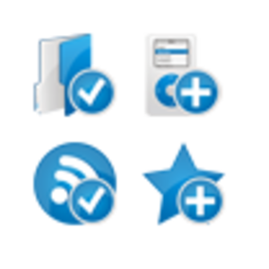Blue Extended Icons Set 4x32 Preview Image