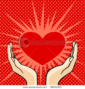 Stock Photo Two Hands Holding A Heart Raster Version Image
