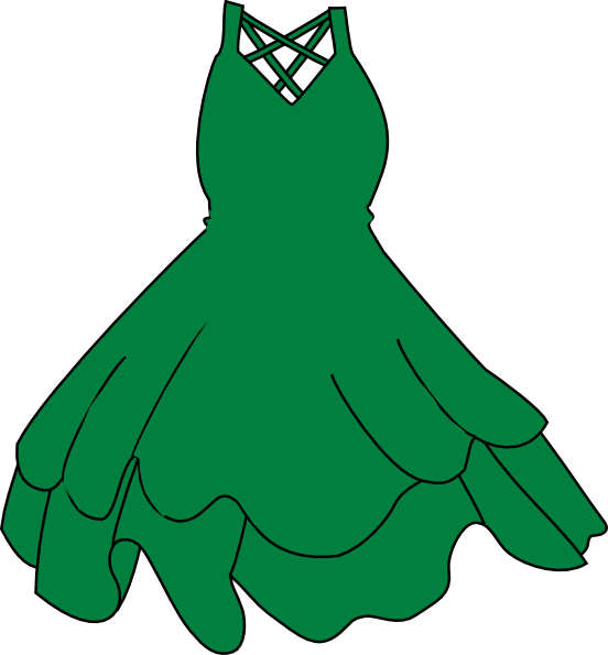 Cartoon Green Dress