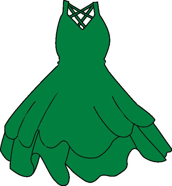 Cartoon Green Dress