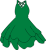 Green Dress Clip Art