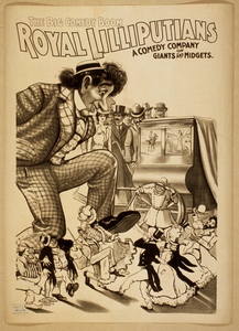 Royal Lilliputians The Big Comedy Boom : A Comedy Company Of Giants And Midgets. Image