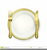 Free Plate Setting Clipart Image