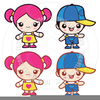 Boy And Girl Praying Clipart Image