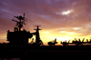 The Sun Sets Over The Flight Deck Of Uss John C. Stennis (cvn 74) During A Scheduled Underway Period Image