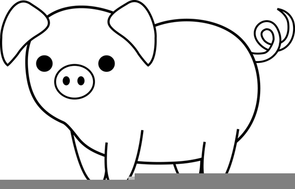 Free Black And White Pig Clipart | Free Images at Clker ...