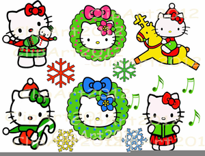 Hello kitty christmas. Clipart free images at