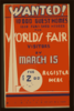 Wanted! 10,000 Guest Homes, 1000 Furnished Houses For World S Fair Visitors By March 15  / G.w. Clip Art