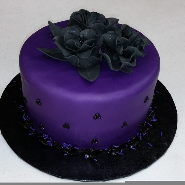 Purple Birthday Cake Free Images At Clker Vector Clip Art