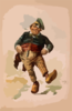 [dutchman Dancing In Wooden Shoes With Pipe] Clip Art