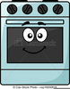 Cartoon Oven Clipart Image