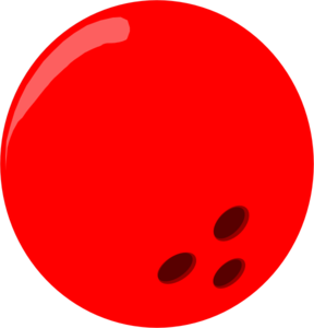 Bowling Ball - Red Clip Art