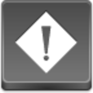 Free Grey Button Icons Exception Image