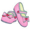 Pink Baby Booties Free Clipart Image