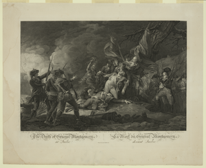 The Death Of General Montgomery At Quebec La Mort Du General Montgomery Devant Quebec / Painted By John Trumbull ; Engraved By W. Ketterlinus ; Printed By Andw. Maverick. Image