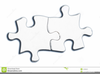 Black And White Puzzle Piece Clipart Image