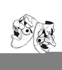 Comedy Tragedy Clipart Image