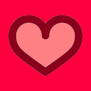 Pink Heart Outline Image