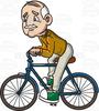 Funny Bike Riding Clipart Image