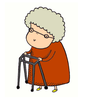 Two Old Ladies Clipart Image