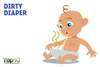 Babies In Diapers Clipart Image