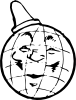 Globe With Hat Clip Art