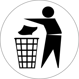 Doctormo Put Rubbish In Bin Signs clip art - vector clip art ...